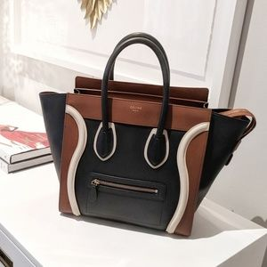 Celine Tri-Colored Mini Luggage